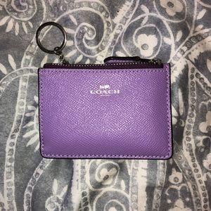 Coach Mini ID Skinny Zip Wallet